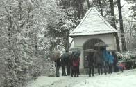 Gang uebers Bergl bei Schnee