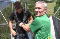 Bungy-Jumping an der Benjamin Raich Brücke
