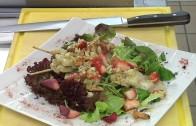 Kochen – Garnelenspieße/ Entrcote vom Lamm (Hotel Auderer)