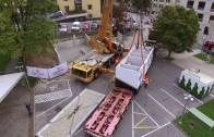 Neue Trafostation am Imster Rathausplatz