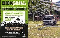 Ankünder – Kick&Grill beim Gasthof Neuner