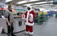 Der Weihnachtsmannlehrling beim Tool Park